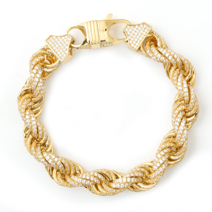 Iced Out Rope Bracelet 11mm