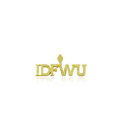 IDFWU big sean pendant gold diamonds yellow