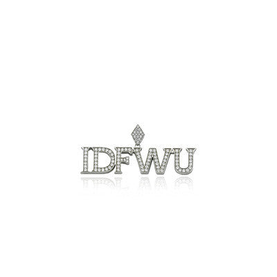 IDFWU big sean pendant silver diamonds