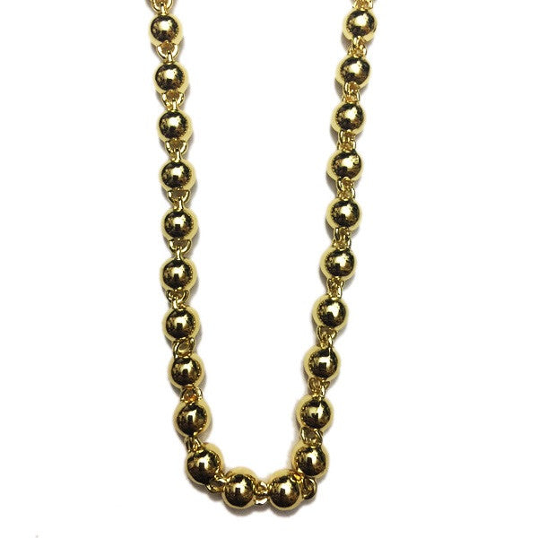beaded chain 8mm gold