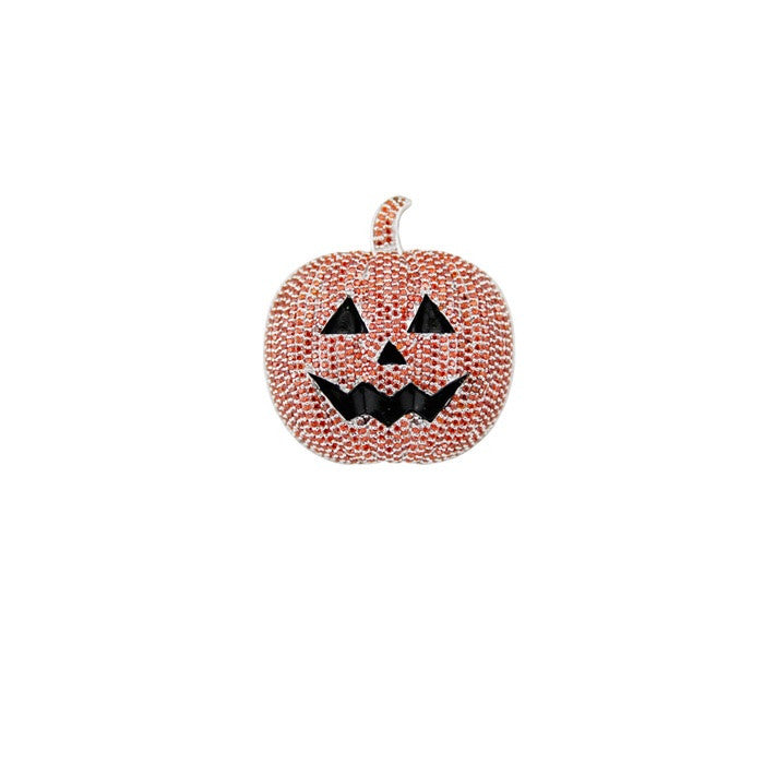 halloween pumpkin pendant orange silver