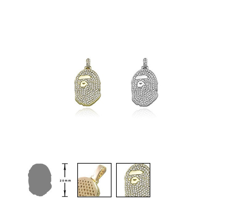 BG custom diamond Bape pendant & Necklace Micro size