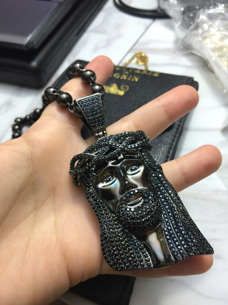 Standard Jesus piece fully iced black