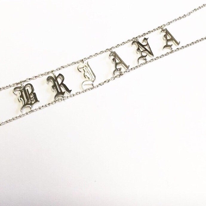Personalized Name Necklace - Kim Kardashian Saint Choker