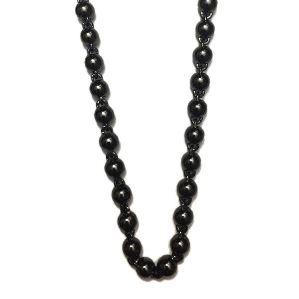 beaded chain 8mm black