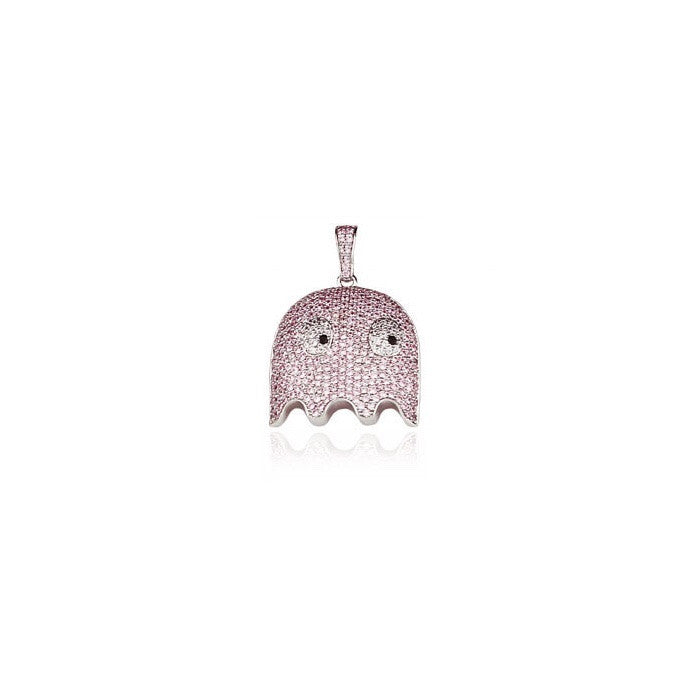 ghost pinky pendant diamonds silver