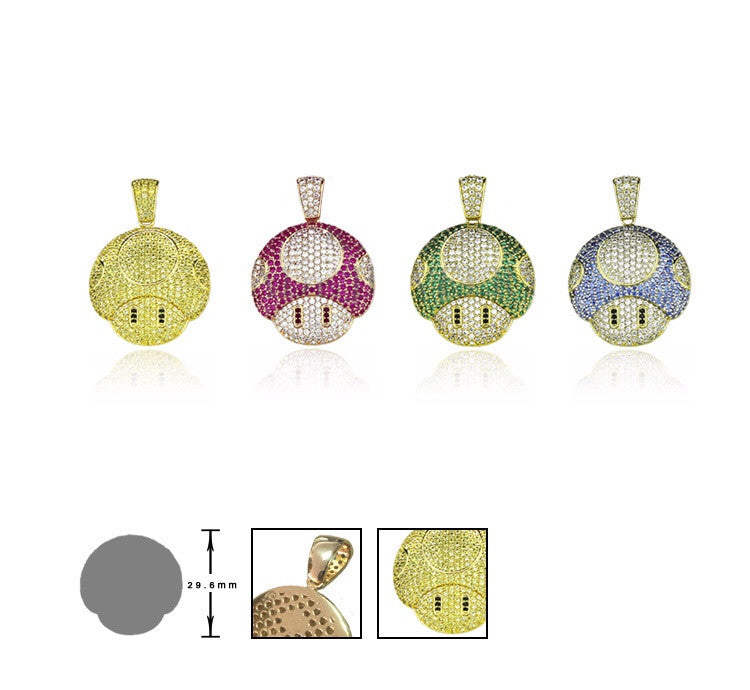 super mario mushroom pendant diamonds