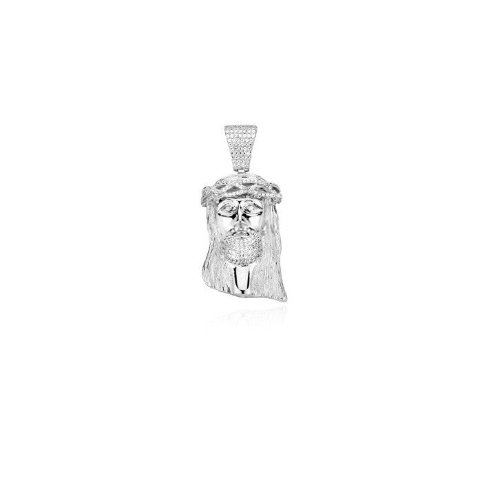 baby jesus piece pendant part iced silver