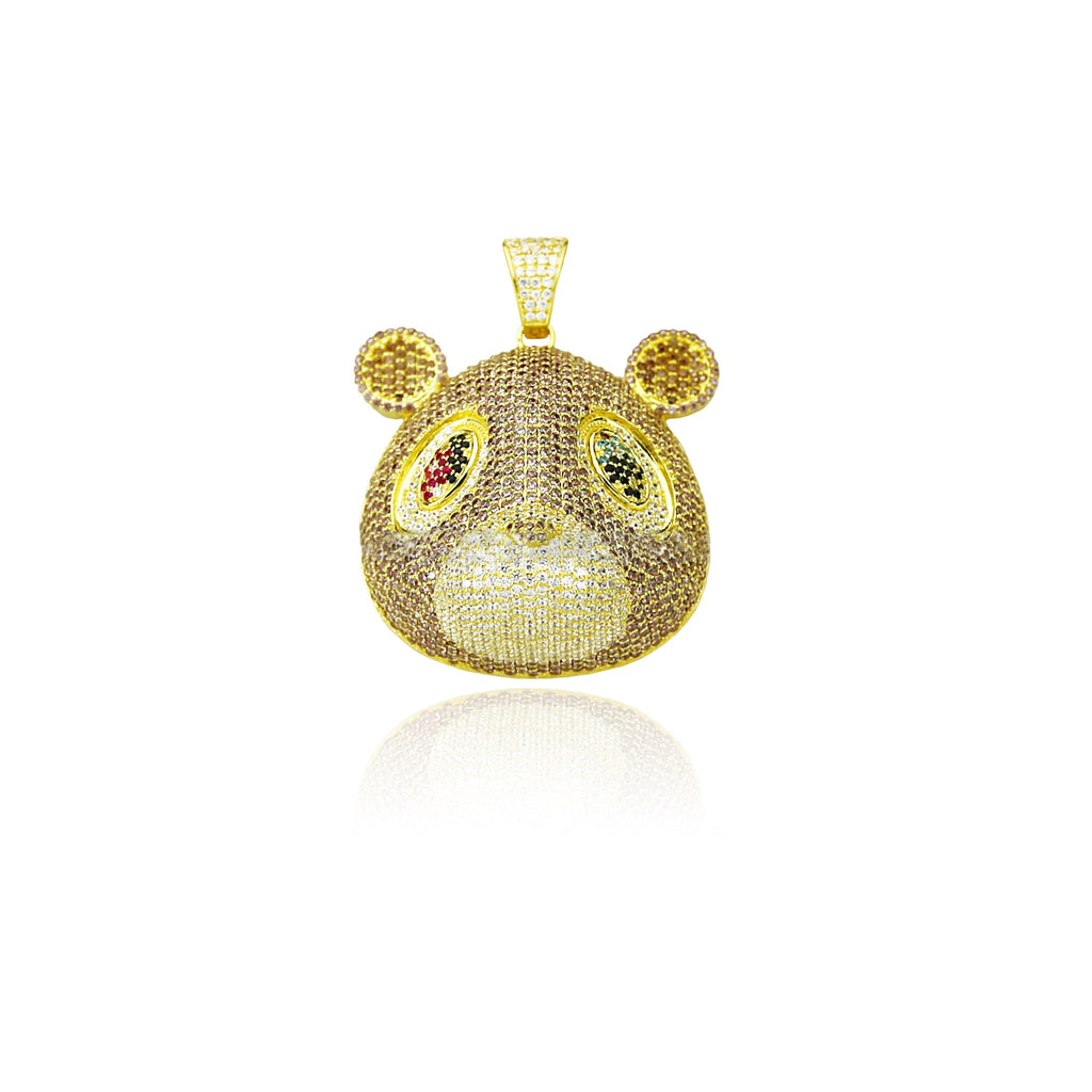 Kanye west college dropout bear pendant with rope chain necklace kanye aloadofball Images