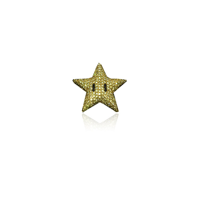 super mario star pendant necklace diamond
