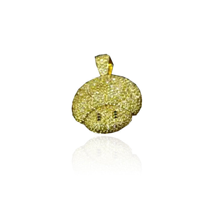 super mario mushroom pendant gold yellow