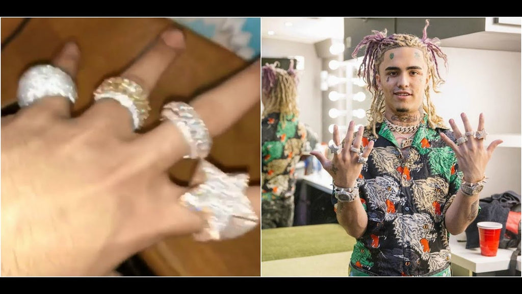 iced out eternity ring moving spinning rotating ring as seen on lil pump lil uzi vert and migos