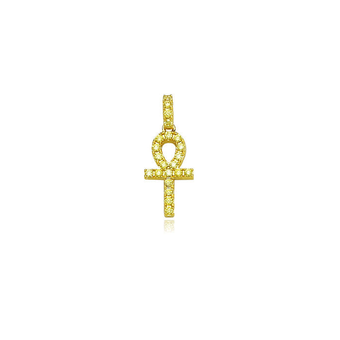 affordable hip hop jewelry nano ankh pendant in diamond necklace chain