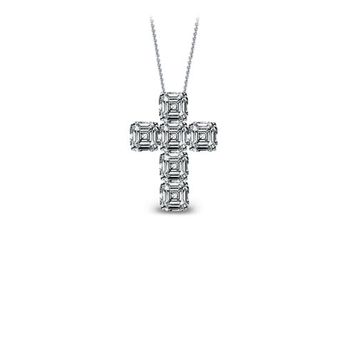 Nano Asscher Cut Diamond Cross jacob mrflawless pendant necklace chain ifandco