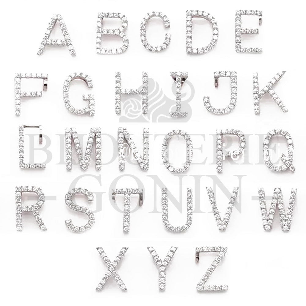 icebox lil uzi vert Custom Alphabet A-Z Initial Letter Name Charm Jewelry pendant chain necklace