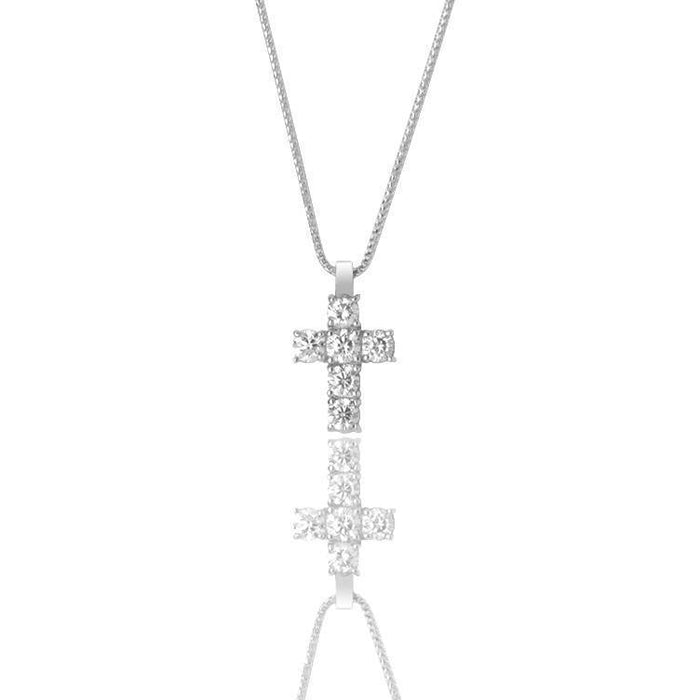 ifandco nano benny cross diamond cross pendant necklace chain gold price good