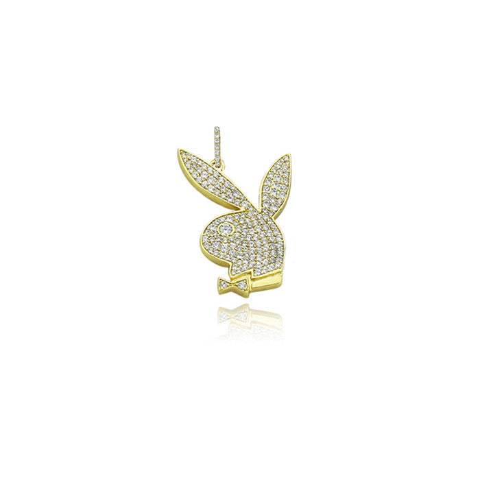 playboy bunny pendant in gold
