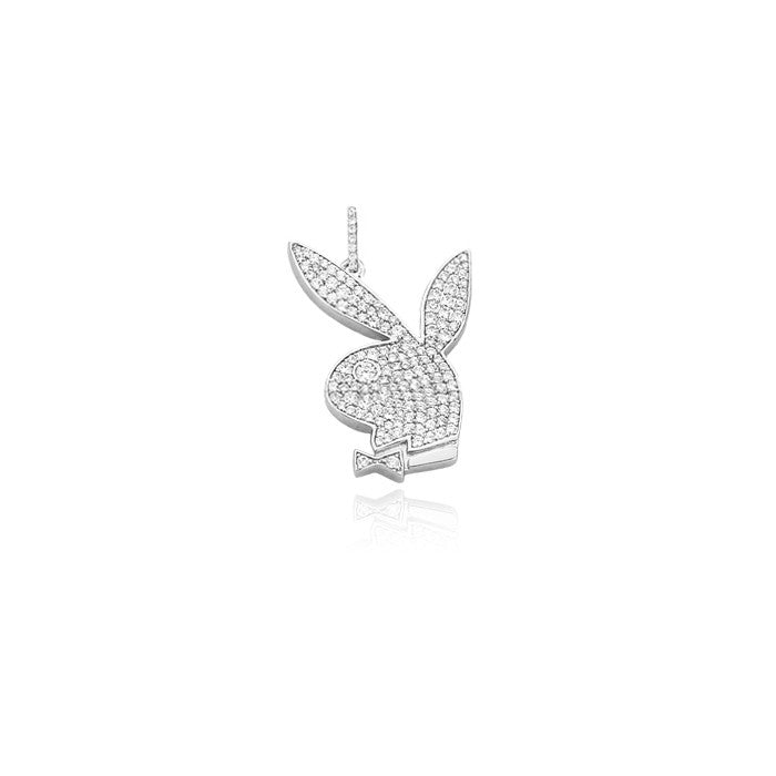 playboy bunny pendant in silver