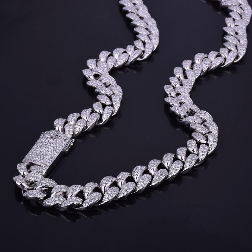 20MM Miami cuban link chain as seen on LIL UZI VERT special clasp gold vvs diamond