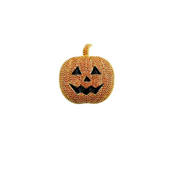 halloween pumpkin pendant orange gold