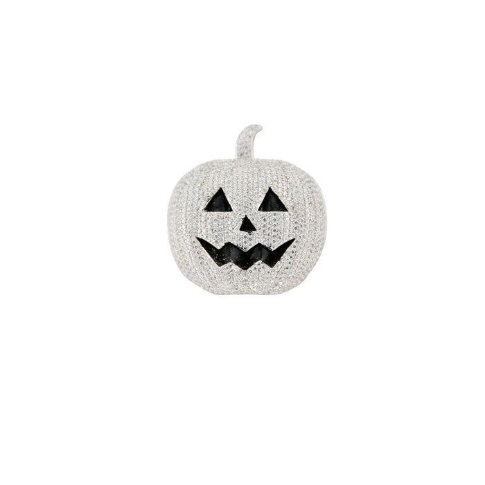 halloween pumpkin pendant all silver