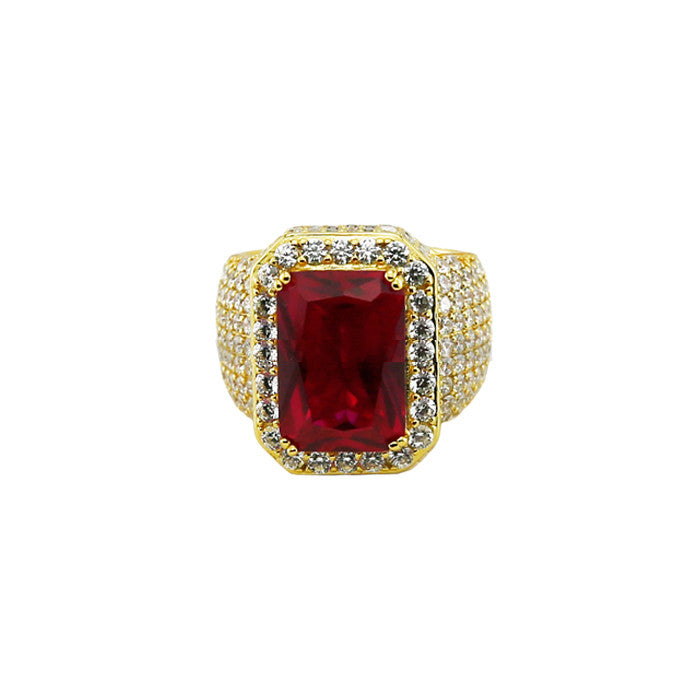 Red Ruby ring gold gem
