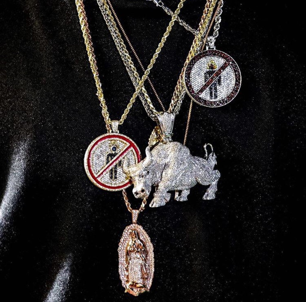 travis scott laflame no bystanders chain necklace pendant astroworld