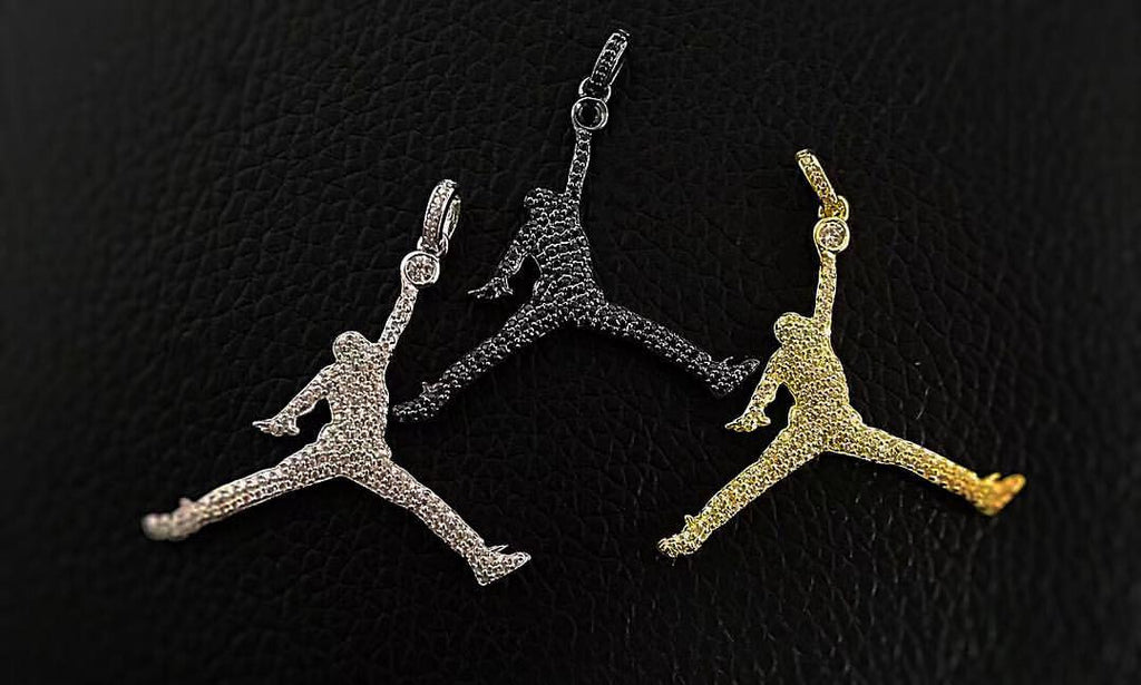 Air jordan jumpman necklace diamond