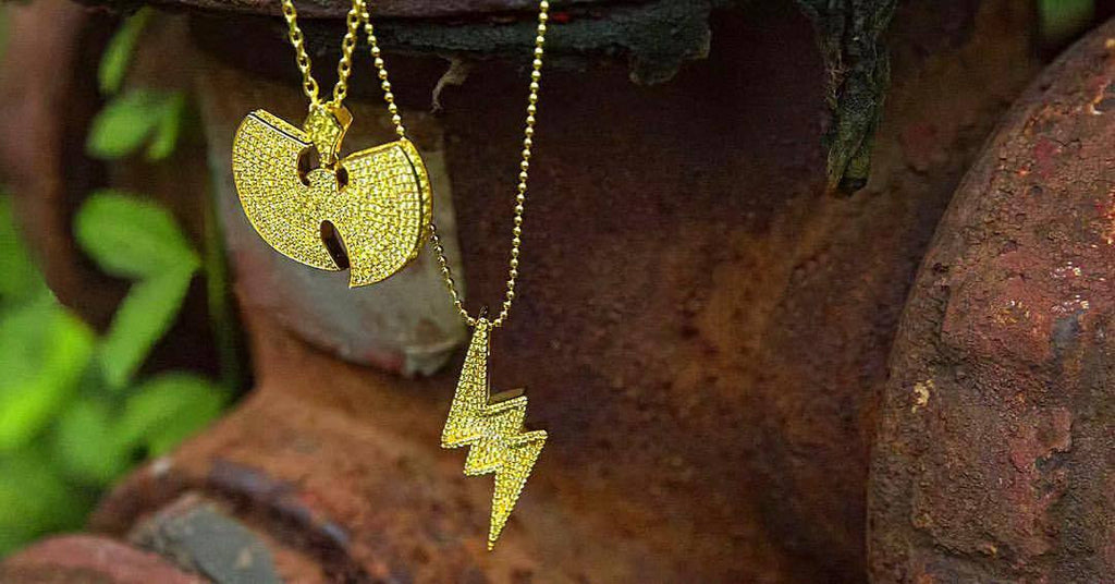wu tang pendant necklace chain diamond