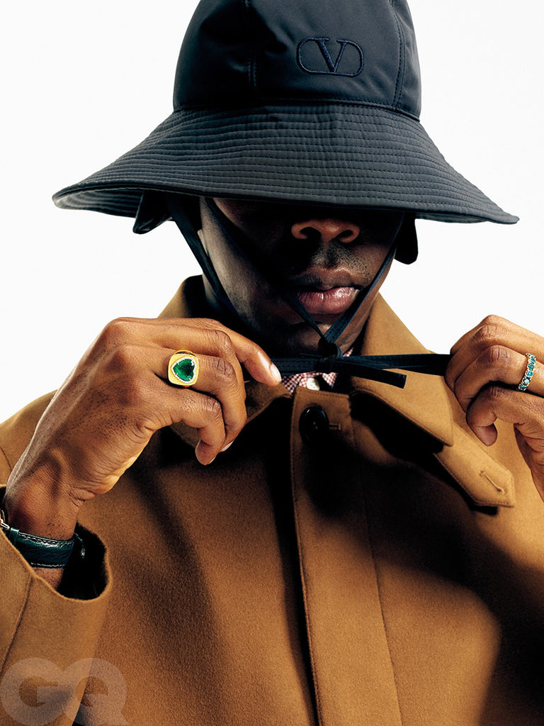 Vogue Tyler the creator green heart ring emerald diamond custom made diamond vvs ifandco