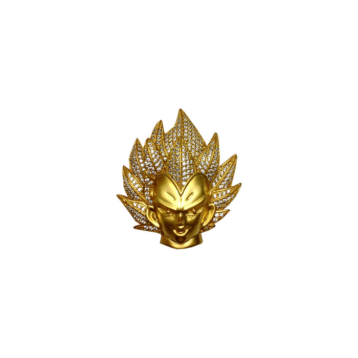 Vegeta necklace in gold and diamond dbz