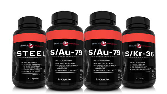 Steel Men's Fat Burning Energy Stack