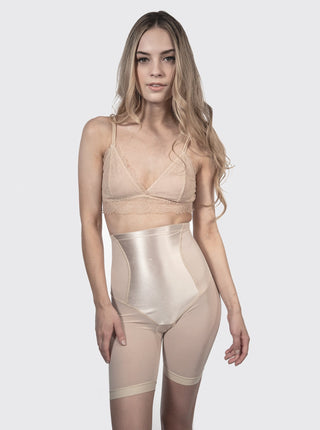 High Waisted Compression Shorts - Nude