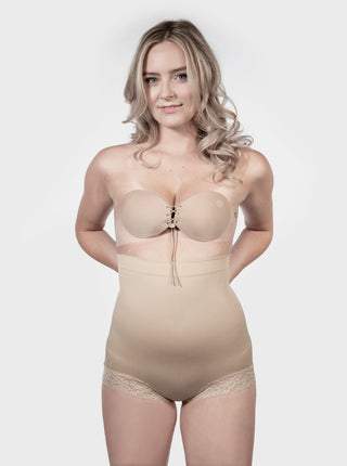 High Waisted Shapewear Brief - Nude
