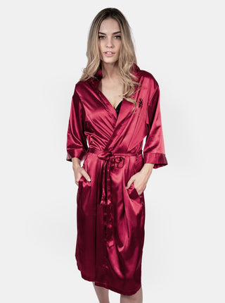 Satin Robe - Red