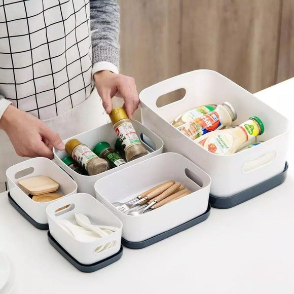Kitchen Storage Box with Lid Makeup Organizer-20x14.5x9 cm