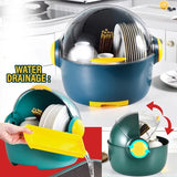 Capsule Dishrack Storage for Plates Bowl & Utensils