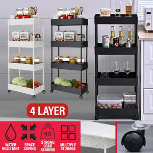 [ 4 LAYER ] Household Storage Multilayer Portable Shelf Rack