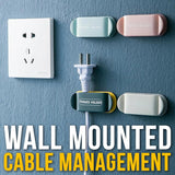 [ 4pcs ] Wall Mounted Multifunction Cable Wire & Plug Management Organizer