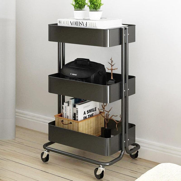 3 Tiers Space Saver Shelves Kitchen Trolley Rack