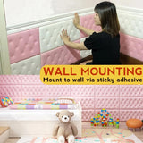 3D PE Soft Sponge Wall Cushion Self Adhesive Sticker [ 30CM x 60CM x 12MM ] [ 1pc ]