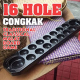 16 Hole Congkak Classic Traditional Malay Full Wood Board Game