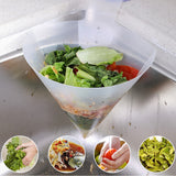 Kitchen Suction Sink Reusable Auto Strainer Food Leftover Soup Garbage Filter Foldable Sieve