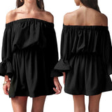 Women's Off-Shoulder Ruffle Dress for Summer, Beach & Casual Wear