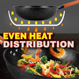32CM Nonstick Multi Layer Kitchen Household Cooking Wok