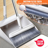 Household Cleaning Sweeping Space Saving Folding Broom & Dustpan Set
