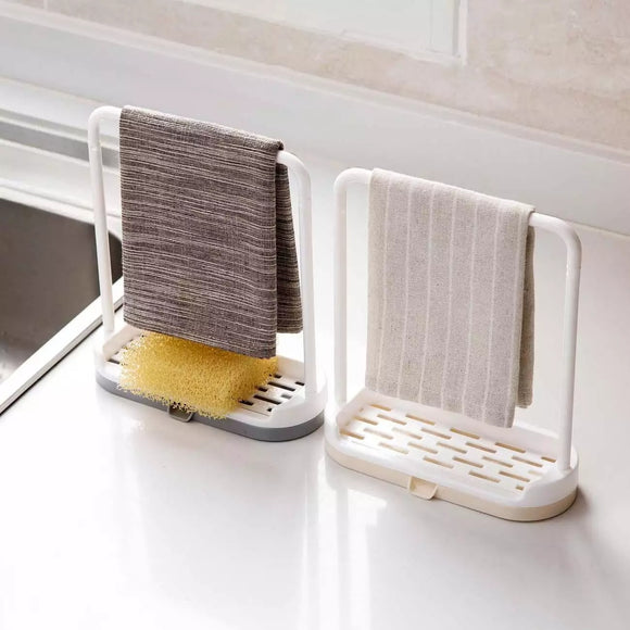 Kitchen Rag Storage Rack Dishcloth Drain Rack Towel Storage Shelf
