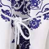 Women's One Piece Long-Sleeved Printed Dress for Summer Casualwear