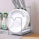 Stainless Steel Knife Chopping Board Rack Knife Holder Space Saving Kitchen Storage