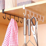 6 Hooks Metal Rack Kitchen Storage Cupboard Sundries Hanging Hook